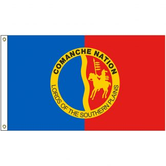 NAT-4x6-COMANCHE 4' x 6' Comanche Nation Tribe Flag With Heading And Grommets-0