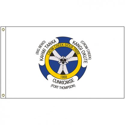 NAT-2x3-CCS 2' x 3' Crow Creek Sioux Tribe Flag With Heading And Grommets-0