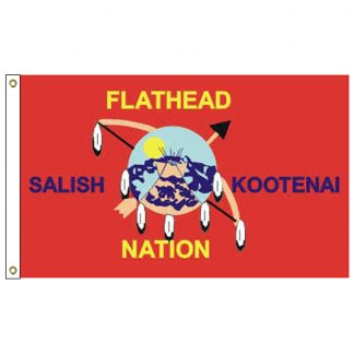 NAT-2x3-FLATHEAD 2' x 3' Flathead Nation Tribe Flag With Heading And Grommets-0