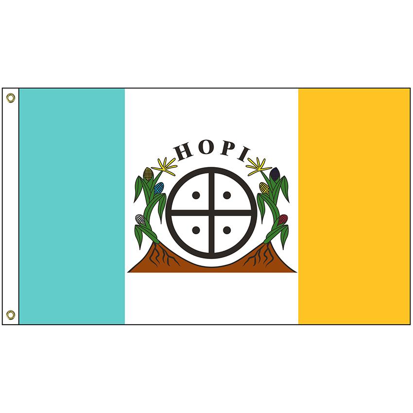 Nat 35 Hopi 3 X 5 Hopi Tribe Flag With Heading And Grommets