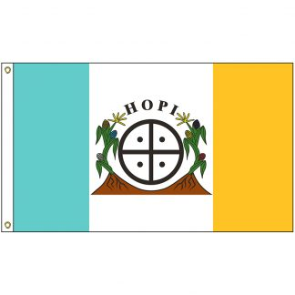 NAT-2x3-HOPI 2' x 3' Hopi Tribe Flag With Heading And Grommets-0