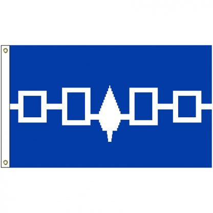 NAT-3X5-IROQUOIS 3' x 5' Iroquois Tribe Flag With Heading And Grommets-0