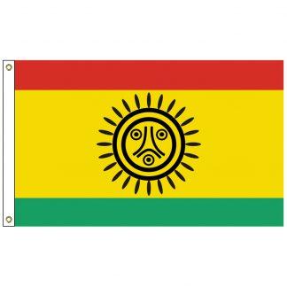 NAT-3X5-JATIBONICU 3' x 5' Jatibonicu Taino Tribe Flag With Heading And Grommets-0