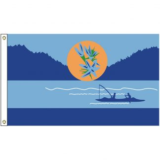 NAT-2x3-KALISPEL 2' x 3' Kalispel Tribe Flag With Heading And Grommets-0