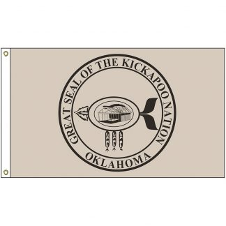 NAT-2x3-KICKAPOO 2' x 3' Kickapoo Tribe Flag With Heading And Grommets-0