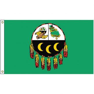 NAT-2x3-KOOTENAI 2' x 3' Kootenai of Idaho Tribe Flag With Heading And Grommets-0