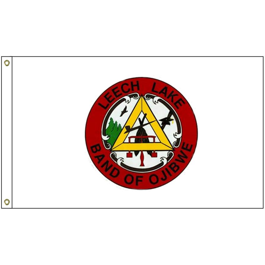 Nat 58 Leechlake 5 X 8 Leech Lake Tribe Flag With Heading And