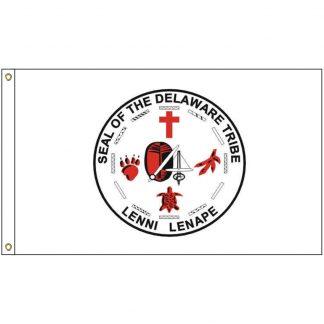 NAT-3x5-LENNI 3' x 5' Lenni Lenape Tribe Flag With Heading And Grommets-0