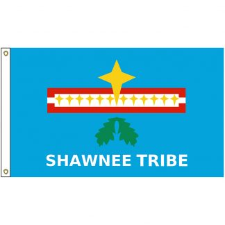 NAT-3x5-SHAWNEE 3' x 5' Loyal Shawnee Tribe Flag With Heading And Grommets-0