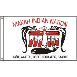 NAT-5x8-MAKAH 5' x 8' Makah Tribe Flag With Heading And Grommets-0