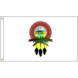 NAT-3x5-MHA 3' x 5' Mandan Hidatsa Arikara Tribe Flag With Heading And Grommets-0