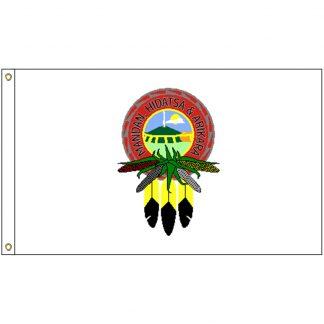 NAT-2x3-MHA 2' x 3' Mandan Hidatsa Arikara Tribe Flag With Heading And Grommets-0