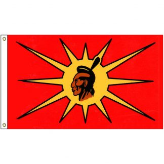 NAT-2x3-MOHAWK 2' x 3' Mohawk Tribe Flag With Heading And Grommets-0
