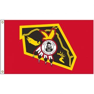 NAT-5x8-NEZPERCE 5' x 8' Nez Perce Tribe Flag With Heading And Grommets-0