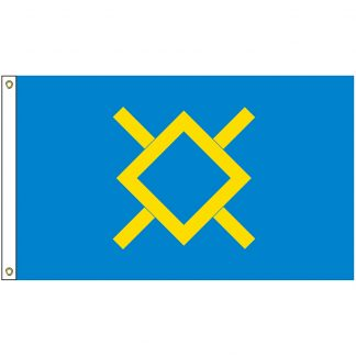NAT-3x5-NCN 3' x 5' Northern Cheyenne Nation Tribe Flag With Heading And Grommets-0