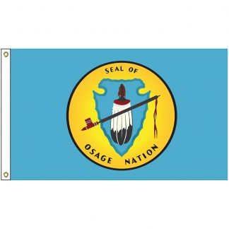 NAT-5x8-OSAGE 5' x 8' Osage Tribe Flag With Heading And Grommets-0