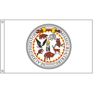 NAT-2x3-OTOE 2' x 3' Otoe-Missouria Tribe Flag With Heading And Grommets-0