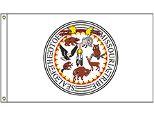 NAT-5x8-OTOE 5' x 8' Otoe-Missouria Tribe Flag With Heading And Grommets-0