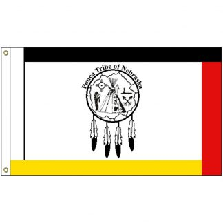 NAT-3x5-PONCA 3' x 5' Ponca of Nebraska Tribe Flag With Heading And Grommets-0