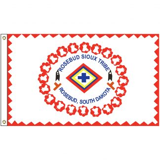 NAT-2x3-ROSEBUD 2' x 3' Rosebud Sioux Nation Tribe Flag With Heading And Grommets-0