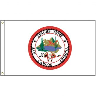 NAT-3x5-SANCARLOS 3' x 5' San Carlos ApacheTribe Flag With Heading And Grommets-0