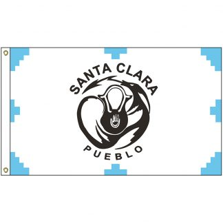 NAT-3x5-SCP 3' x 5' Santa Clara Pueblo Tribe Flag With Heading And Grommets-0