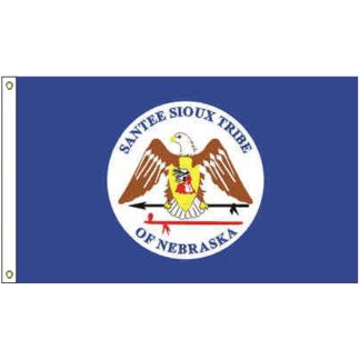 NAT-4x6-SANTEE 4' x 6' Santee Sioux Tribe Flag With Heading And Grommets-0