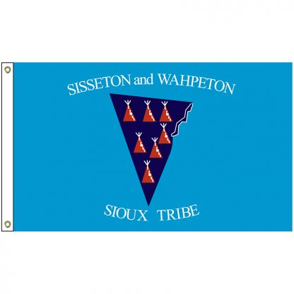NAT-5x8-SISSETON 5' x 8' Sisseton & Wahpeton Tribe Flag With Heading And Grommets-0