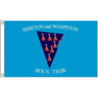 NAT-2x3-SISSETON 2' x 3' Sisseton & Wahpeton Tribe Flag With Heading And Grommets-0
