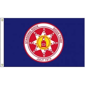 NAT-3x5-SRS 3' x 5' Standing Rock Sioux Tribe Flag With Heading And Grommets-0