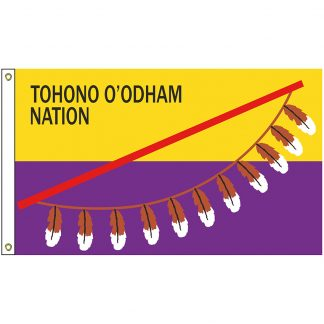 NAT-5X8-TOHONO 5' x 8' Tohono O'odham Tribe Flag With Heading And Grommets-0