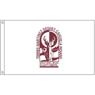 NAT-2x3-TORRES 2' x 3' Torrez Martinez Tribe Flag With Heading And Grommets-0