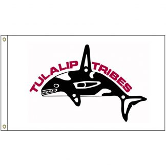 NAT-5x8-TULALIP 5' x 8' Tulalip Tribes Flag With Heading And Grommets-0