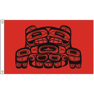 NAT-5x8-SKAGIT 5' x 8' Upper Skagit Tribe Flag With Heading And Grommets-0