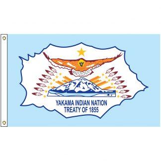 NAT-3x5-YAKAMA 3' x 5' Yakama Indian Nation Tribe Flag With Heading And Grommets-0