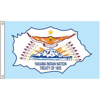 NAT-2x3-YAKAMA 2' x 3' Yakama Indian Nation Tribe Flag With Heading And Grommets-0