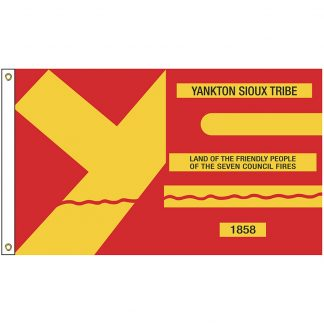 NAT-4x6-YANKTON 4' x 6' Yankton Sioux Nation Tribe Flag With Heading And Grommets-0