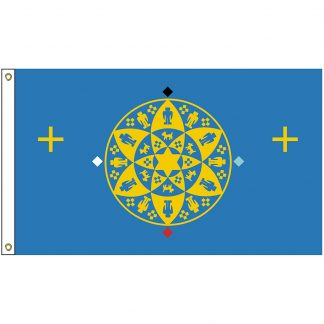 NAT-3x5-YAVAPAI 3' x 5' Yavapai-Prescott Nation Tribe Flag With Heading And Grommets-0