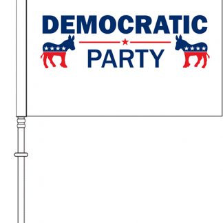 "PPF-115S-DPARTY 11.5'' x 15"" Democrat Party Car Flag - Single Reverse-0"