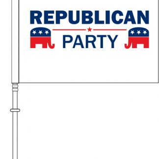 "PPF-115RPS-RPARTY 11.5'' x 15"" Republican Party Car Flag - Single Reverse-0"