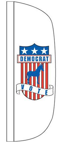 CFF-3X12-DEMO 3' x 12' Democrat Flutter Flag-0
