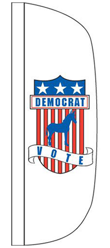 CFF-3X10-DEMO 3' x 10' Democrat Flutter Flag-0