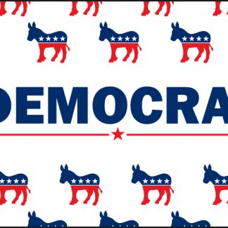 PPF-2x3-DPATTERN 2' X 3' Democrat Pattern Flag with Heading & Grommets-0