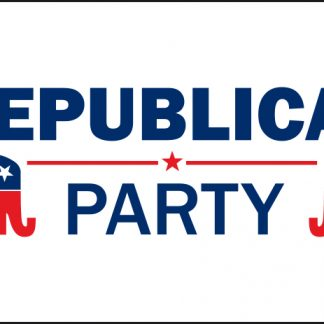PPF-2x3-RPARTY 2' X 3' Republican Party Flag with Heading & Grommets-0
