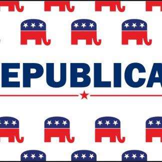 PPF-2x3-RPATTERN 2' X 3' Republican Pattern Flag with Heading & Grommets-0