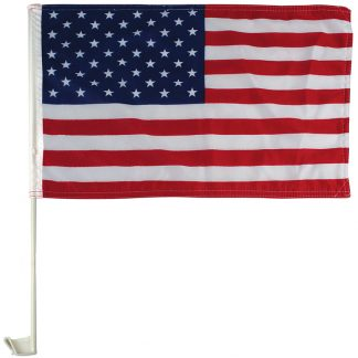 "AWF-LG01E 11"" x 18"" Economy US Car Flag - Imported-0"