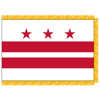 SFI-203-DC District of Columbia 3' x 5' Indoor Flag with Pole Hem and Golden Fringe-0