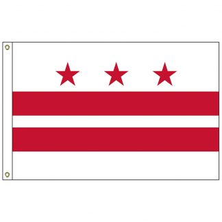 SF-103-DC District of Columbia 3' x 5' Nylon with Heading and Grommets-0