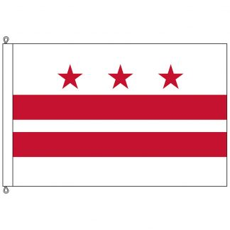 SF-812-DC District of Columbia 8' x 12' Nylon with Rope and Thimble-0