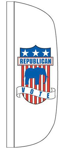 CFF-3X12-REPU 3' x 12' Republican Flutter Flag-0